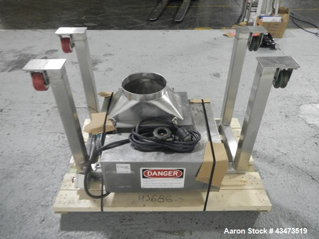 Used- Frewitt Oscillating Granulator, Model M6-633J1-1323, serial# 058363317. Includes a Matcon hopper.