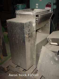 "USED: Frewitt oscillating granulator, model MG205, stainless steel.5"" diameter x 19"" long (5) bar rotor, 14"" x 19"" feed open..."