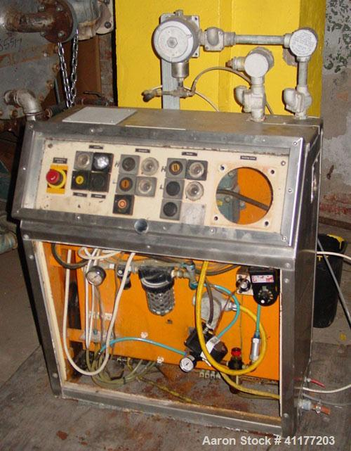 Used- Diosna P-800 high shear mixer granulator. Bowl Volume 800 liters. Batch size up to 720 liters. Main rotor drive: 35/55...