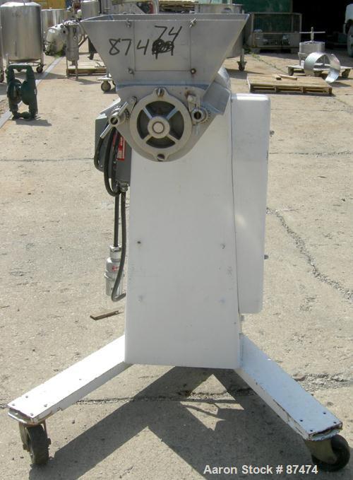 "USED: Stokes Oscillating Granulator, model 43-6, 304 stainless steel. Approximate 5' diameter x 13"" long rotor. 13-3/4"" x 16..."
