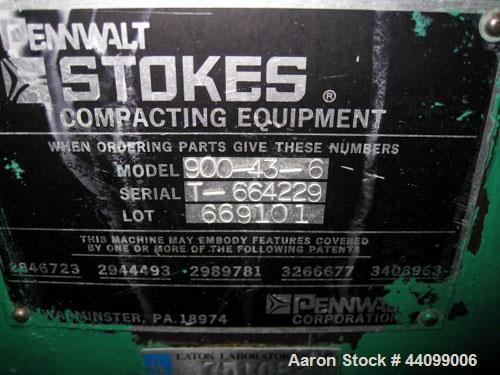 Used- Stokes Oscillating Granulator, Model 900-43-6, Stainless Steel. Includes a rotor, missing bottom chute. Driven by a 1h...