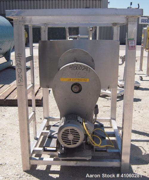 "Used- Vector Colton Wet Granulator, model 561, 304 stainless steel. Approximate 12"" diameter x 3"" deep screen. Top feed with..."