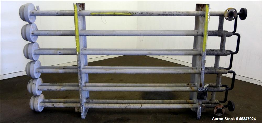 Used- Stainless Steel Brown Fin Tube Co. Heat Exchanger, Hot Oil, 132.1 SQ. FT