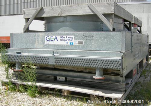 Unused- GEA Rainey Corp. Air Cooled Fin Fan Heat Exchanger, 1,458 square feet. Twin top fan design. Galvanized frame, carbon...