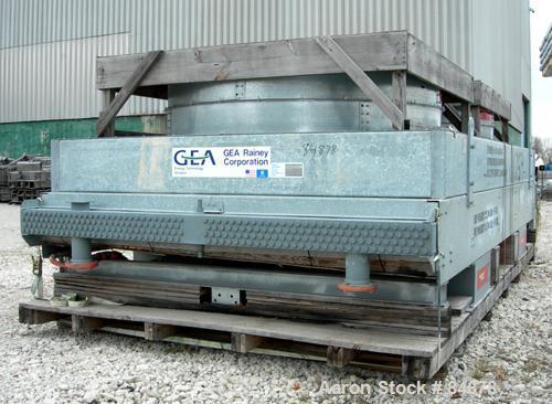 Unused-UNUSED: GEA Rainey Corp Fin Fan Heat Exchanger, 1,458 sq ft. Twin top fan design. Galvanized frame, carbon steel fin ...