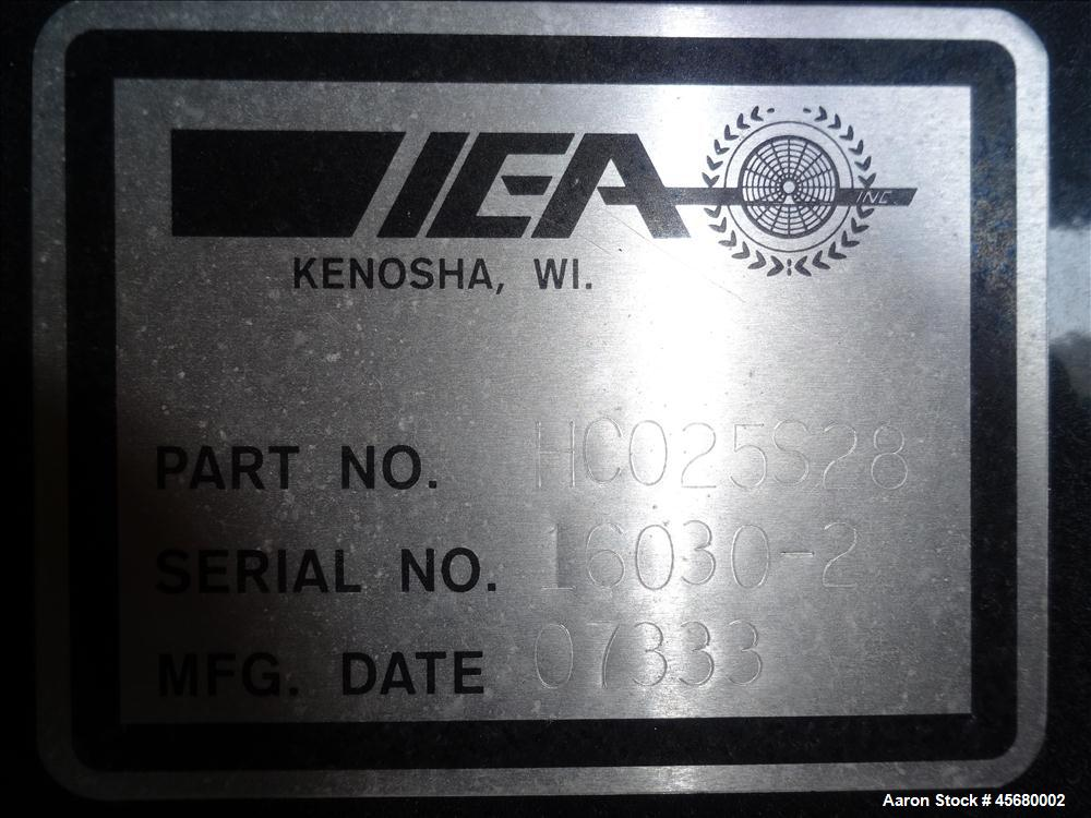 """Used-IEA Remote Horizontal Cooler/ Radiator, Model HC025S28. 54"""" diameter fan driven by a 3/60/230-460 volt, 865 rpm motor. ..."""
