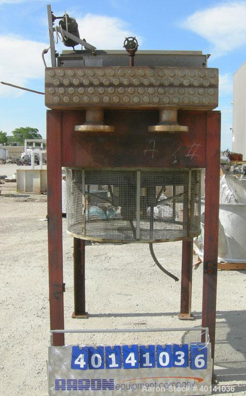 Used: Hoffman Process fin fan heat exchanger, model 1FDO404031, approximately 70 square feet, 316L stainless steel header. (...