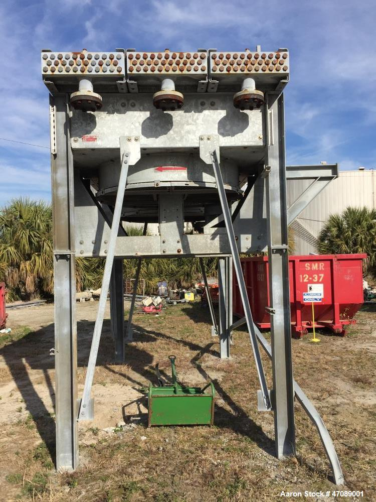 Used- Smithco Fin Fan / Air cooled Heat Exchanger, Model# F14-067-2. Aluminum fins. Carbon Steel tubes.