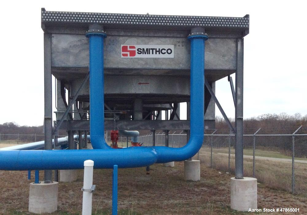 Used- Smithco Engineering Fin Fan Air Cooled Heat Exchanger, Model F5C-15C-3. Carbon steel. MAWP: 75 psi at 250 deg F. Mfg. ...