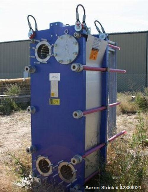Unused- Alfa Laval Plate Exchanger, 450.70 Square Feet, Model Widegap 200S-FG. (71) Approximately 24'' wide x 62'' tall x (0...