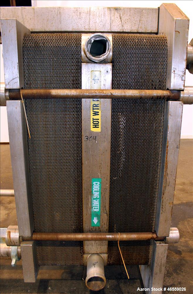 Used- Alfa Laval Plate Heat Exchanger, Model A10RCF, 304 Stainless Steel.