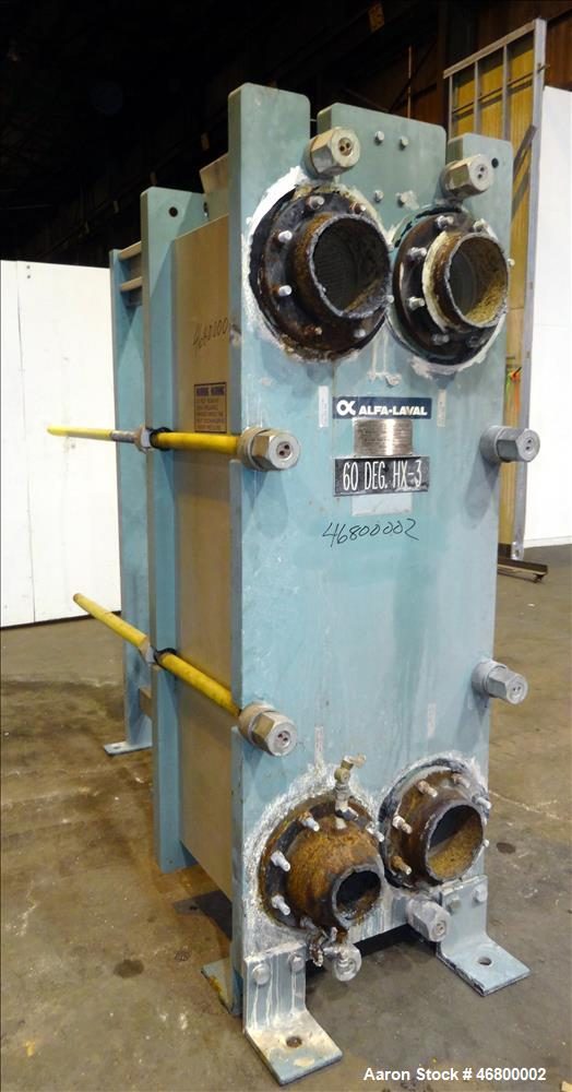 Used- Alfa Laval Plate Heat Exchanger, Type AM20-FG