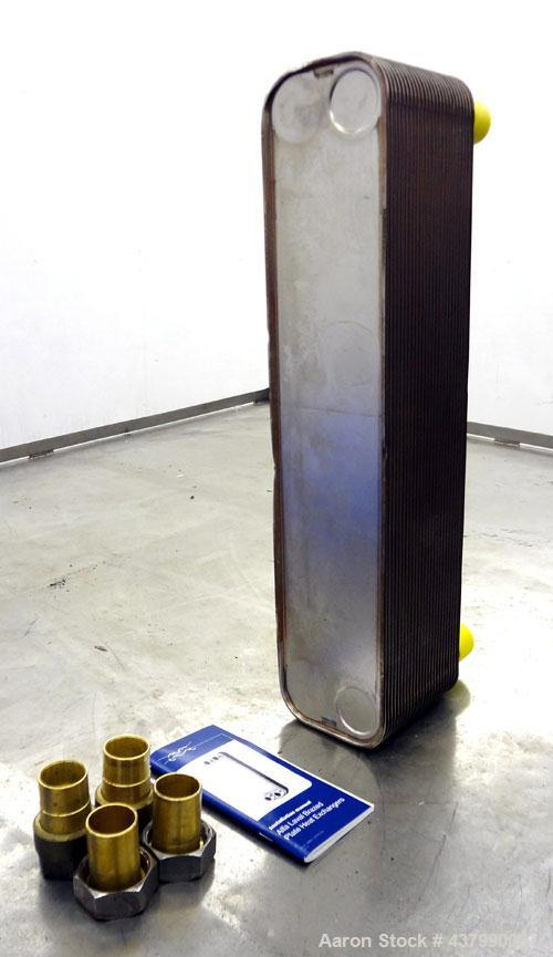Unused- Alfa Laval Brazed Plate Exchanger, 25.6 Square Feet (2.38 Square Meters)