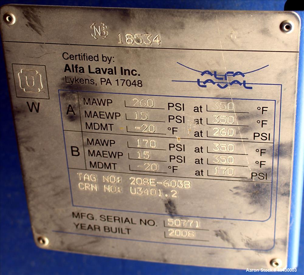 Unused- Alfa-Laval Compabloc Welded Plate Heat Exchanger, 2751.3 Square Feet Surface Area, Model CPL75-V-400, Vertical. (400...