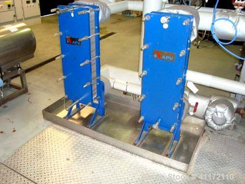 Used- Alfa Laval Plate Heat Exchanger, Type H17 MG10, Stainless Steel. Rated 10 bar (145 psi).