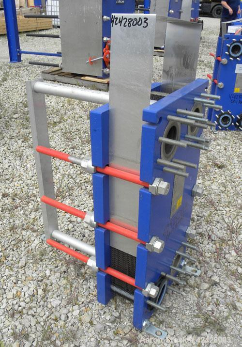 Used- Alfa Laval Thermal Plate Exchanger, 116.2 Square Feet, Model M10-BFG. (47) Approximately 14-1/2 wide x 34-1/2 tall x 0...