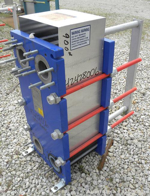 Used- Alfa Laval Thermal Plate Exchanger, 255.8 Square Feet, Model M10-BFG. (99) Approximately 14-1/2'' wide x 34-1/2'' tall...