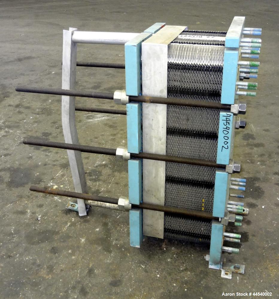 Used- Alfa Laval Thermal Plate Exchanger, 153 Square Feet, Model M10-MFG