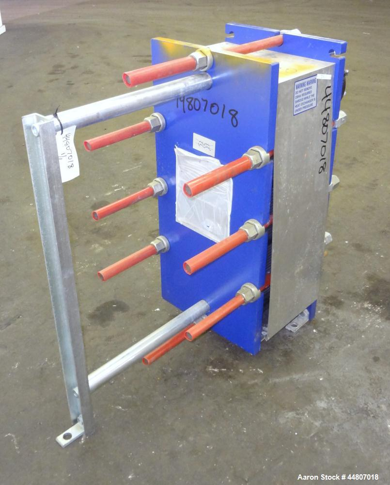 Used- Alfa Laval Plate Exchanger, Model M10-BFG, 279 Square Feet.  (110) 0.40 mm Thick 304 stainless steel plates. Designed ...