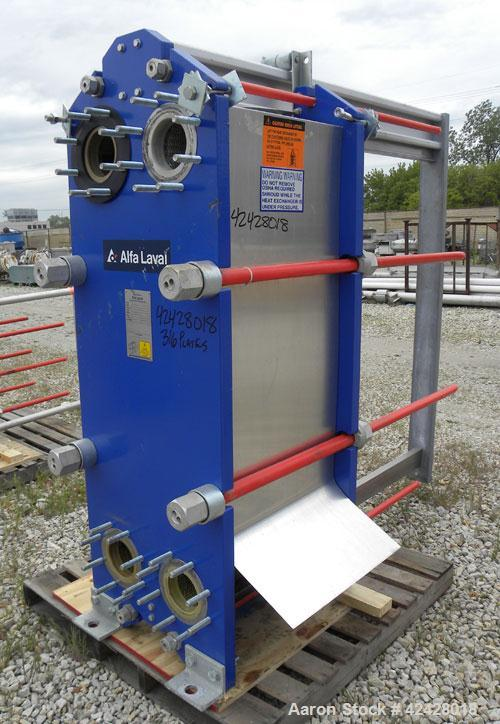 Used- Alfa Laval Thermal Plate Exchanger, 887.6 square feet, model M15-BFG. (133) Approximately 20-1/2'' wide x 60'' tall x ...