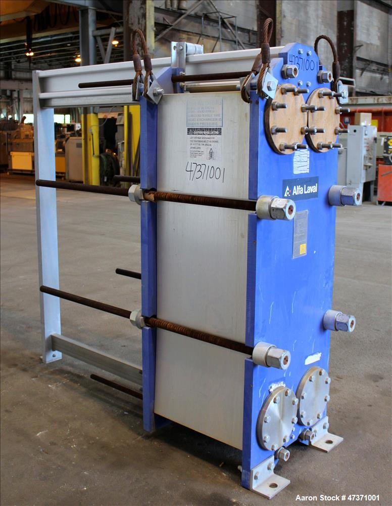 Used- Alfa Laval Thermal Plate Exchanger, 1200.82 Square Feet, Model M15-BFG.