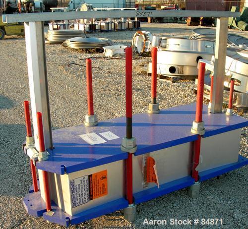 Unused-UNUSED: Alfa Laval gasketed plate heat exchanger, model M15-BFG, 727.4 sq ft, 316 stainless steel. Max flow rate 2000...