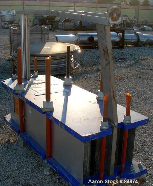 UNUSED- Alfa Laval Gasketed Plate Heat Exchanger, Model M15-MFG, 580.39 square feet, 316 stainless steel. Max flow rate 2000...