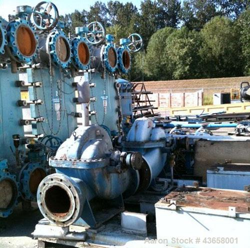 Used-Alfa Laval Paraflow Plate Heat Exchanger, Model M3-FG.  4,497 Square feet surface area, manufactured 1993.