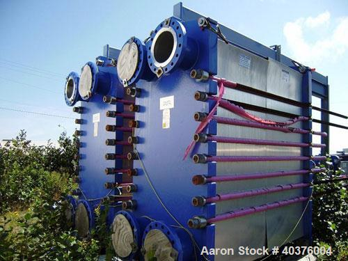 Unused- Alfa Laval Model M30-FD Plate Heat Exchangers. Heat transfer area of 10,100 square feet. Each unit consists of 510 p...