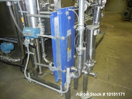 Used- Alfa Laval Plate Heat Exchanger. Model M6-FG