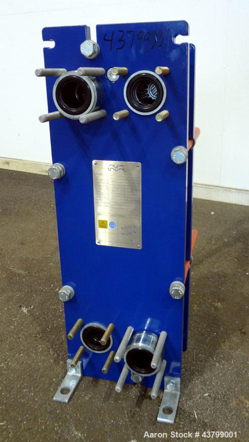 Unused- Alfa Laval Plate Exchanger, 61.35 Square Feet (5.7 Square Meters), Model M6-FG. (40) 316 Stainless steel plates. Des...