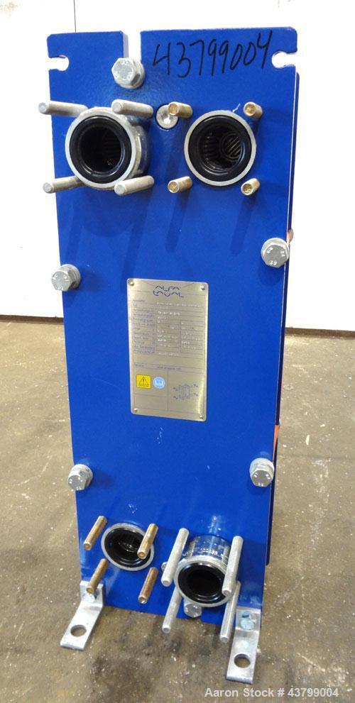 Unused- Alfa Laval Plate Exchanger, 61.35 Square Feet (5.7 Square Meters), Model