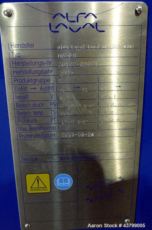 Unused- Alfa Laval Plate Exchanger, 61.35 Square Feet (5.7 Square Meters), Model M6-FG