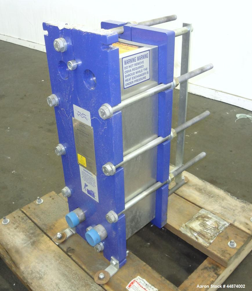 Unused- Alfa Laval Plate Exchanger, Model M6-MFD, 84.4 Square Feet.  (58) 0.60 mm Thick 316 stainless steel plates. Designed...