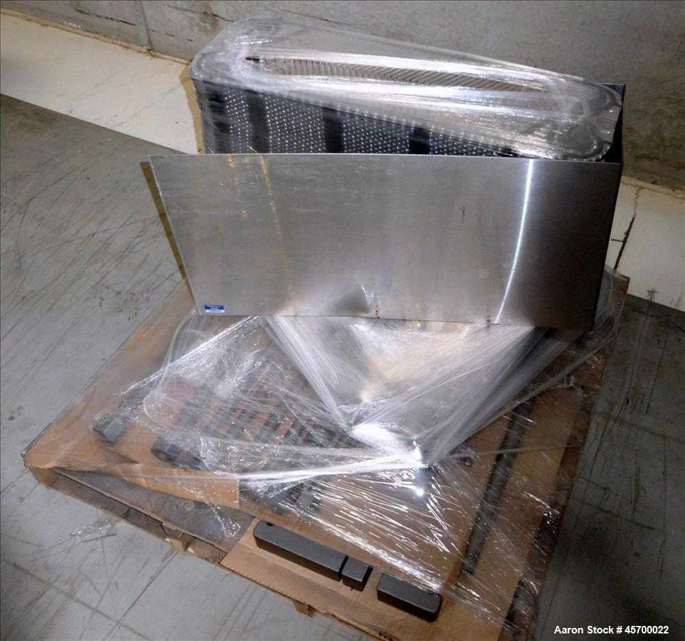 Used- Alfa Laval Stainless Steel Plate Heat Exchanger, Model M6-MFD