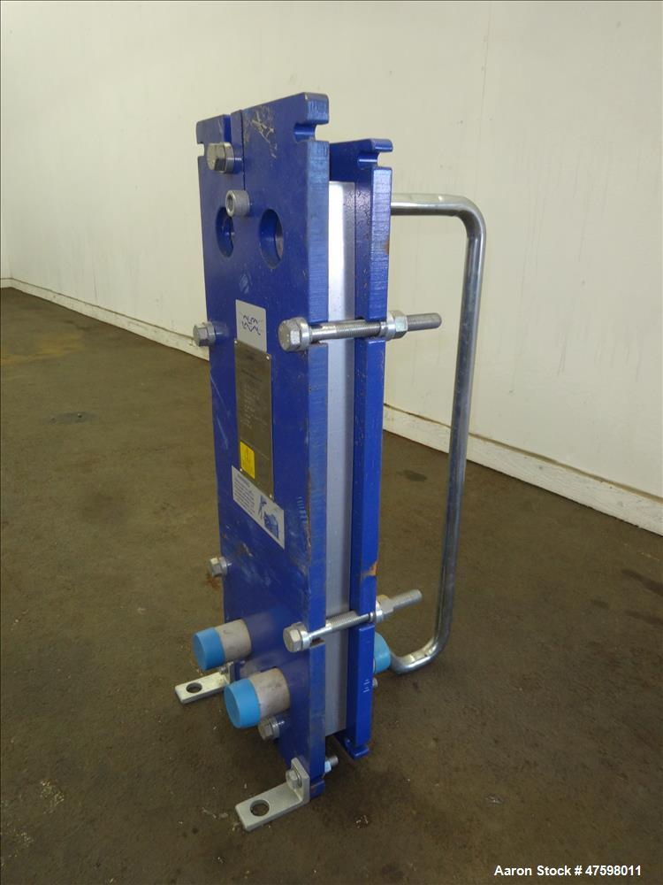 """Used- Alfa-Laval Plate Exchanger, 16.58 Square Feet, Model M6-MFG. (14) 2"""" Wide x 28"""" tall stainless steel plates. Designed ..."""