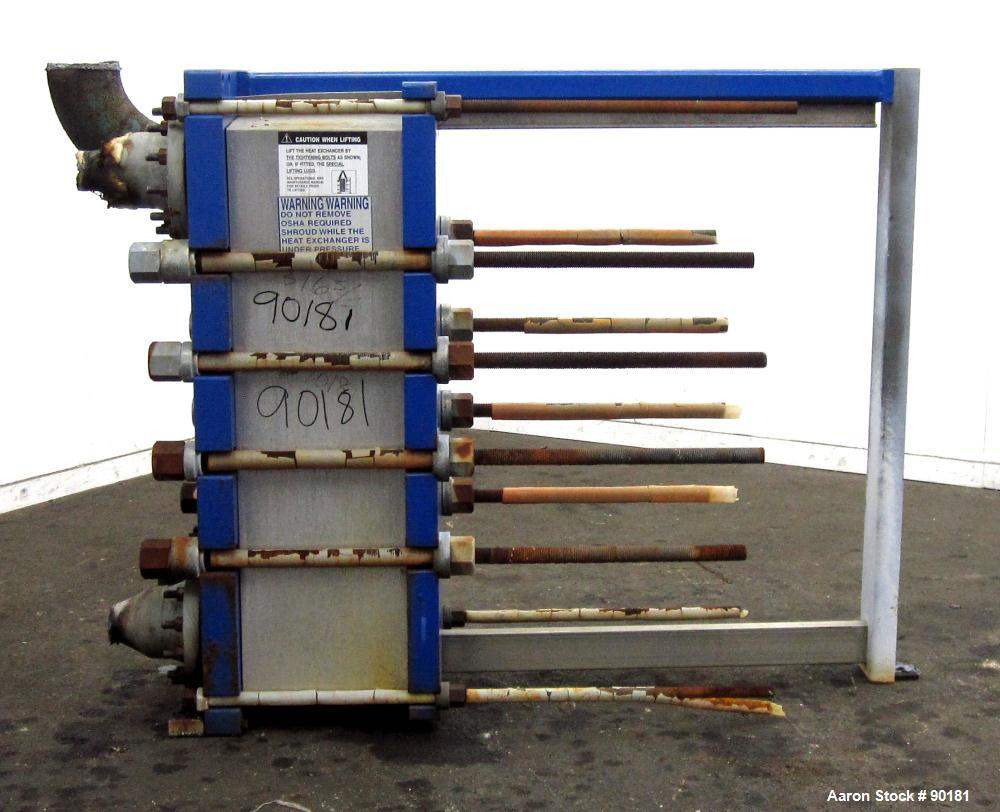 Used- Stainless Steel Alfa Laval Plate Heat Exchanger, Model MK15-BWFD, 594.2 sqare feet