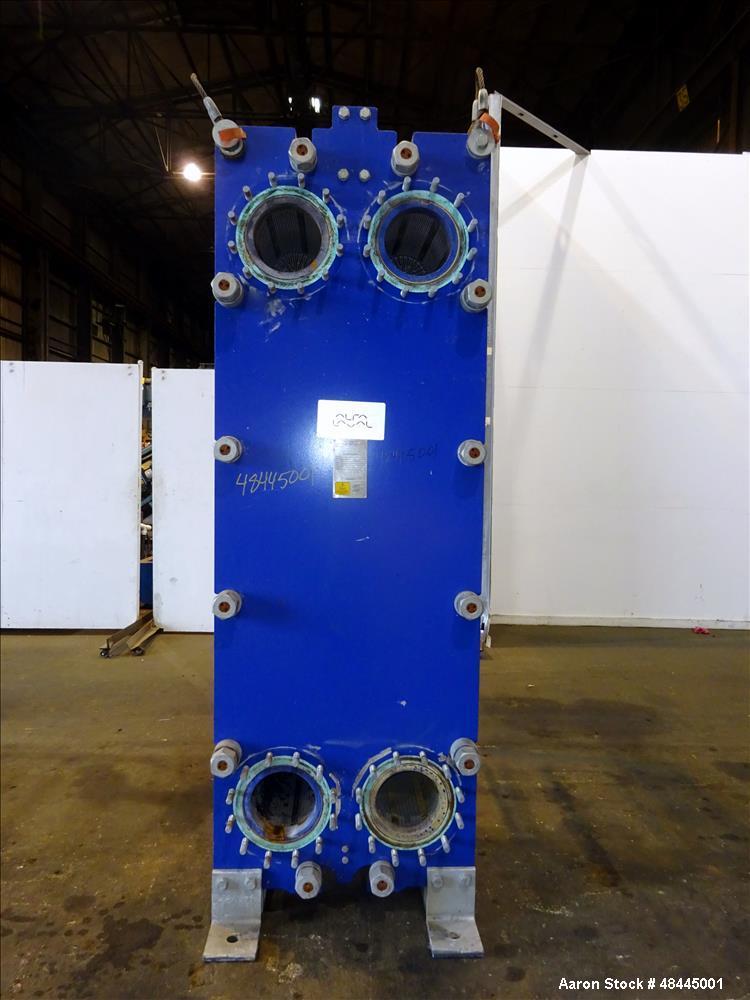 Used- Alfa Laval Plate Type Heat Exchanger, Model MX25-BFG,