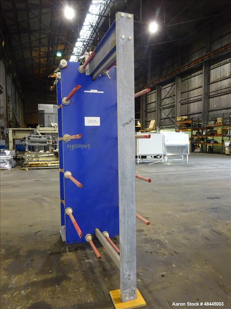 Used- Alfa Laval Plate Type Heat Exchanger, Model MX25-BFG, 2906 Square Feet, Ve