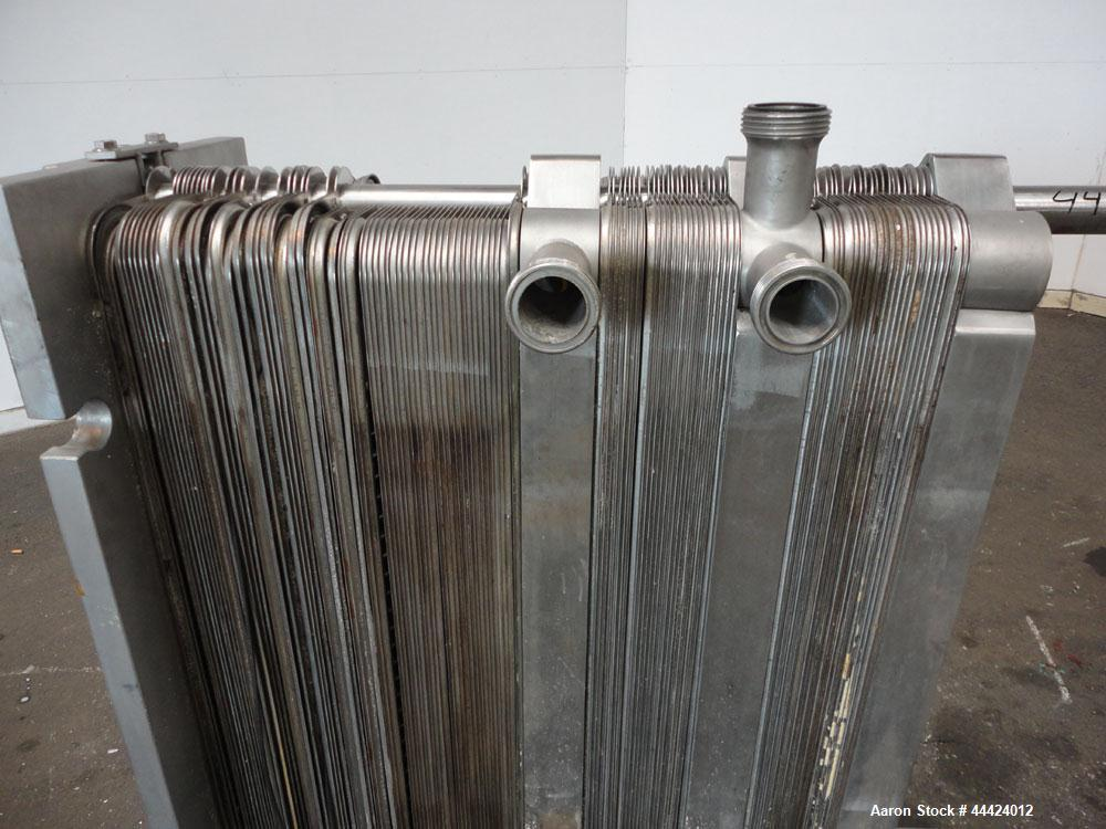 Used- Stainless Steel Alfa Laval Plate Heat Exchanger, Approximately 193 Square Feet, Model P13-RCF