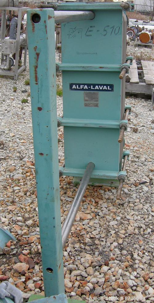 USED: Alfa Laval plate heat exchanger, model P31-LS. Approximately 268 square feet, 316 stainless steel. (78) Approximate 16...