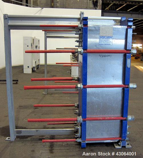 "Used- Alfa Laval Plate Exchanger, 476.20 Square Feet, Model T20-SFG. (67) Approximately 25"" wide x 72"" tall x 0.80mm 316 sta..."