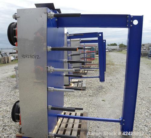 Used- Alfa Laval Vicarb Plate Exchanger, 769.6 Square Feet, Model V110-SST-100. Duty 6577 KBTU/H. (67) Approximately 36'' wi...