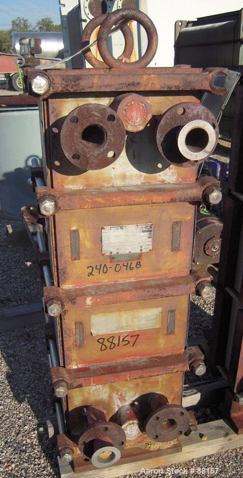 Used- American Heat Reclaim Plate Heat Exchanger. Approximately 100 square feet