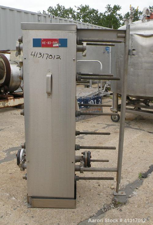 Used- APV Crepaco Plate Heat Exchanger, Model H17S, 316 Stainless Steel. Approximately 230 square feet. (144) approximate 10...
