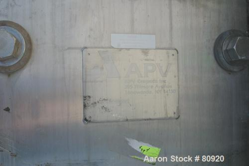 "USED:APV plate heat exchanger, model R45S, 316 stainless steel.Approx 165 sq ft. (22) 17"" wide x 60"" long plates, expandable..."