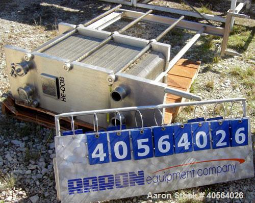 "Used- APV Plate Heat Exchanger, Model SR20,  stainless steel. Approximately 258 square feet. (155) approximate 12"" wide x 32..."