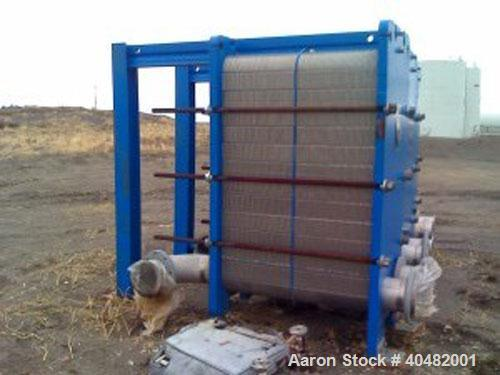 Used-APV plate heat exchanger, model SR9-MGS-12. Built 2004. 166 plates for a total surface area of 1407 square feet. Plates...