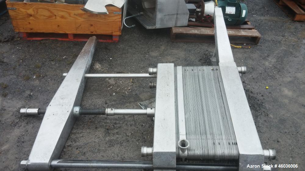 Used-APV Plate Heat Exchangers, Stainless steel.
