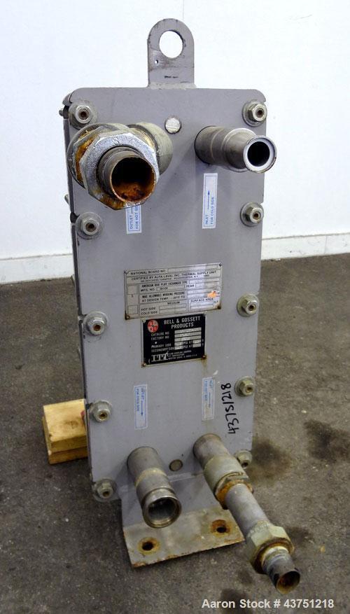 Used- Bell & Gossett Plate Exchanger, 9.10 Square Feet, Model GPX-130-007. (7) 304 Stainless steel plates. Designed 115 psi ...